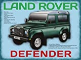Land Rover Defender. British classic, green, 4x4, peoples car, farmers, off road, chelsea tractor. four by four. Not a Jeep. Medium Metal/Steel Wall Sign