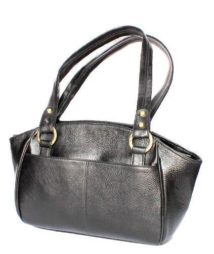 StonKraft Womens Handbag (Black) (LthrBlkBag74)