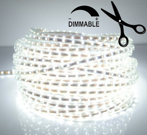 Ledjump Pure White 300Smd Led Ribbon Flexible Strip 16.4 Ft 12V