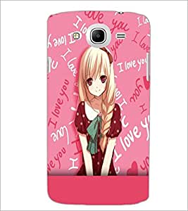 PrintDhaba Cute Animated Girl D-3701 Back Case Cover for SAMSUNG GALAXY MEGA 5.8 (Multi-Coloured)