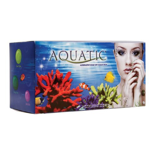 EZ Flow Gel It Alternative Soak Off Gel, Collection Kit, Aquatic Color Gel