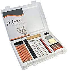 Bianyo Drawing Sketching Art Pencil Set, 30-Piece Set