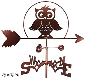 Hand Made TEACHERS OWL FLAT POST Mount Weathervane ~NEW~ by SWEN Products