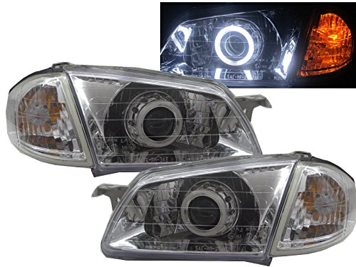 CrazyTheGod Familia BJ 1998-2003 Sedan/Wagon CCFL HID BI-Projector Headligh Headlamp V1 G3 CHROME for MAZDA LHD (Mazda Familia Bj compare prices)