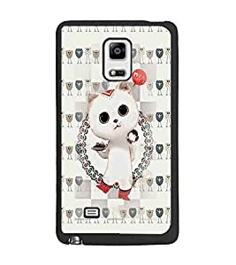 PrintDhaba Kitty D-2604 Back Case Cover for SAMSUNG GALAXY NOTE EDGE (Multi-Coloured)