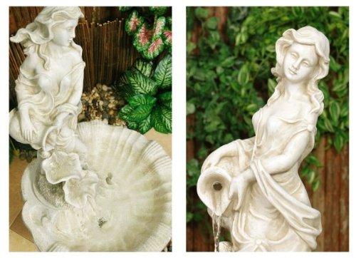 Fontaine Couleur Ivoire - Figurine Liliana sur Pilier