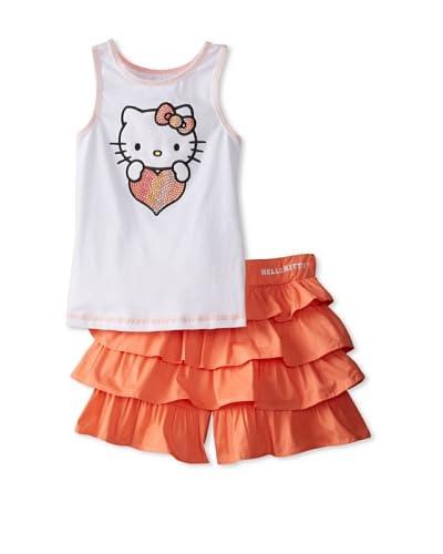 Hello Kitty Girl's Tank & Tiered Skort Set  [Fusion Coral]