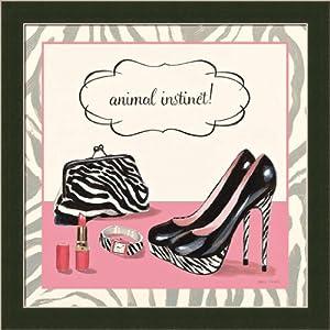 Animal Instinct by Marco Fabiano Zebra High Heel 13.5x13.5 Framed Art Print Picture Wall Décor
