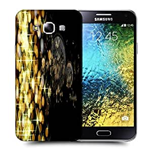 Snoogg Golden Sparkling Printed Protective Phone Back Case Cover ForSamsung Galaxy E5