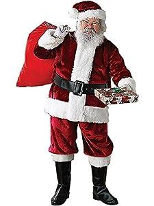 Rubie's Costume Crimson Regency Plush Santa Suit, Crimson, Standard Costume