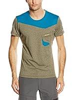 SALEWA Camiseta Manga Corta Half Dome Dry M (Barro / Azul Petróleo)