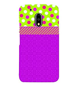 Dotted Green Blue Girl Cute Fashion 3D Hard Polycarbonate Designer Back Case Cover for Motorola Moto G4