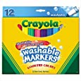 Crayola Washable Markers, 12 Markers, Assorted Colors