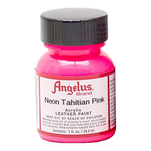 Angelus Leather Paint 1 Oz Neon Tahitian Pink (Angelus Leather Paint Neon Colors compare prices)