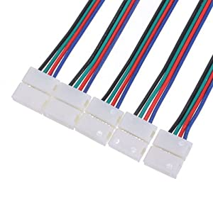 10x led pcb connecteur ruban fil cable adaptateur bande. Black Bedroom Furniture Sets. Home Design Ideas