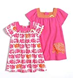 Offspring Infant Girls Two Pack of Elephant Themed Dresses Nb-24 Months