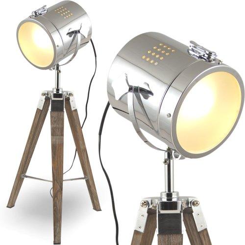 MOJO-Stehleuchte-Tischleuchte-Tripod-Stehlampe-Tischlampe-Dreifuss-Urban-Industrial-Design-Sel-l32-Braun-Tischleuchte