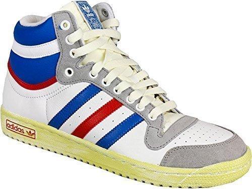 ADIDAS Sneaker da Uomo Alte - Vintage - In Pelle - Bianco / Blu / Rosso - Bianco / Blu / Rosso, EUR 40 2/3