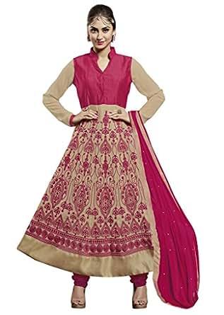 Khushali Presents Embroidered Georgette Bangalore Silk