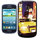 Fancy A Snuggle Yellow Taxi Cab in New York Times Square USA Clip-on Hard Back Cover for Samsung Galaxy S3 Mini i8190
