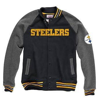 Pittsburgh Steelers Mitchell & Ness NFL Backward Pass Fleece Jacket by Mitchell & Ness