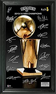 San Antonio Spurs 2014 NBA Finals Champions Trophy Signature Photo by Highland Mint