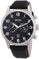 Hugo Boss - 1512919 - Montre Homme - Quartz Analogique - Cadran Noir - Bracelet Tissu Noir