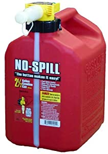 No-Spill 1405 2-1/2-Gallon Poly Gas Can (Carb Compliant)