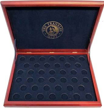 The Franklin Mint Presidential Coin Collection Cherrywood Display Case - Only