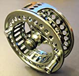 APPALACHIAN MX Precision Machined Fly Reel, Size 1-2 wt. Anodized. Includes Leader and Backing Line - 3 Items.