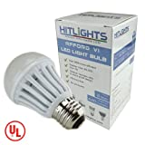HitLights AffordVI A19 6W Cool White LED Light Bulb, E26 Standard Household Base, Replacement for 40 Watt 440LM, UL Listed
