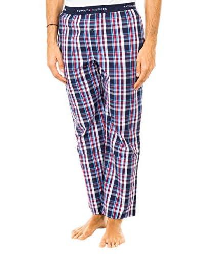 Tommy Hilfiger Pantalón de Pijama Azul / Rojo