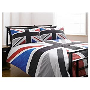 housse couette double drapeau anglais deco londres. Black Bedroom Furniture Sets. Home Design Ideas