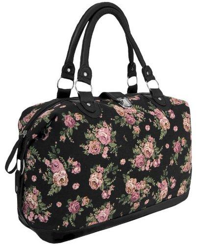 handtaschen marken vergleich eyecatchbags casablanca handtasche aus leinen mit blumenmuster. Black Bedroom Furniture Sets. Home Design Ideas
