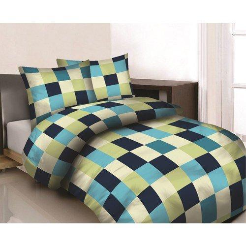 Maxi & Mini-Biancheria da letto, PRESTIGE-PARURE copripiumino, motivo mosaico, 160 x 200 cm, 2 federe incluse 70 x 80, 100% cotone, (02)