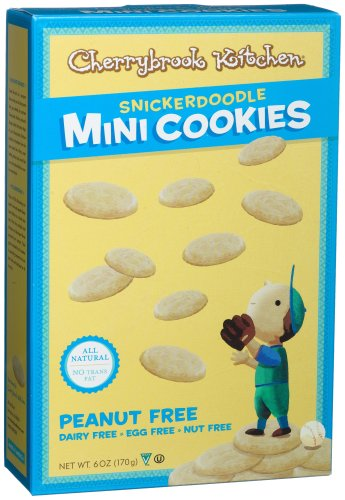 Cherrybrook Kitchen Mini Snickerdoodle Cookies, 6-Ounce Boxes (Pack of 6)
