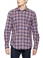 OTTO KERN Camisa Casual (Rojo / Azul)