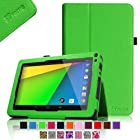 Fintie Premium Vegan Leather Case Cover for 9 Android Tablet inclu. Dragon Touch 9 A13, Alldaymall 9'', Astro Queo 9 A911, AKASO KingPad A90, Digital Reins 9, NeuTab N9 Pro 9, ProntoTec PT9, Andteck TouchTab 9, Zeepad9XN 9, Tagital 9 A23 (PLEASE check the complete compatible tablet list under Product Description) - Green