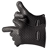 Cuisinart CGM-520 Heat Resistant Silicon Gloves, Black (2-Pack)
