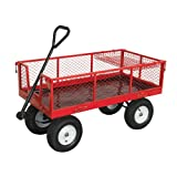 Sealey CST806 Platform Truck with Sides Pneumatic Tyres