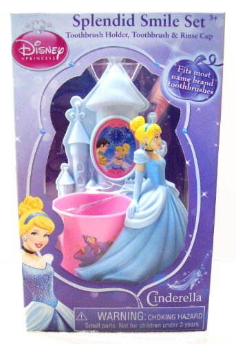 Disney Princess Royal Smile Set - Toothbrush Holder, Toothbrush, and Rinse Cup - 1