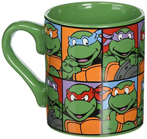 Silver Buffalo NT5132 Teenage Mutant Ninja Turtles Grid Coffee Mug, 14-Ounces (Ninja Turtle Coffee Mug compare prices)
