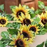 """Factory Direct Craft 6"""" Artificial Yellow Sunflower Garland"""