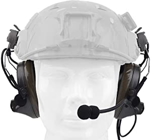 ?Z-TAC Official Store? Z-Tactical Comtac II Headset Style COMTAC II Headset Ver2.0 Style Noise Canceling Sound Collection Soundproof Tactical Headset with Microphone Z041 (Headset + Adapter) (Color: Suit-Headset + Adapter)