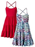 South Pack Of Two Tiered Sundress In Animal Print / Cerise Pink Size 10