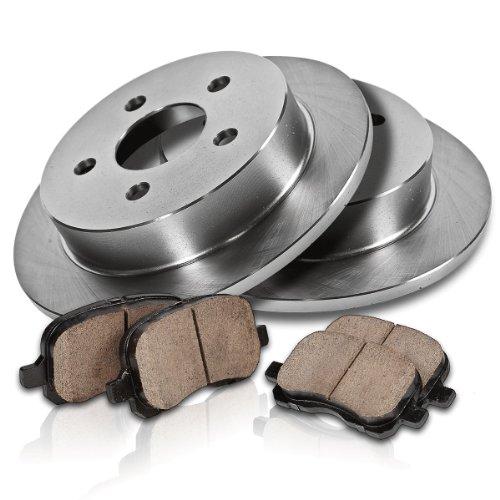 Callahan Rear Premium Grade Oe 232 Mm [2] Rotors + [4] Quiet Low Dust Ceramic Brake Pads Kit Cfp40060B