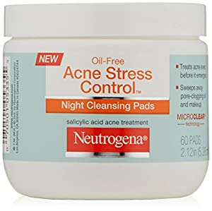 Neutrogena Acne Stress Control Night Cleansing Pads, 60 Count