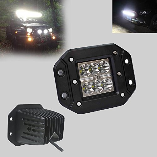 """Payeel 18W Square Cube High Power Led 3X3 Dually Flush Mount Cree Led Light Lamps Dually D2 Off Road 4X4 4Wd Jeep Truck F150 Tacoma Bumper 3"""" Off Road Suv Utv Atv Jeep --Spot 1Pc"""