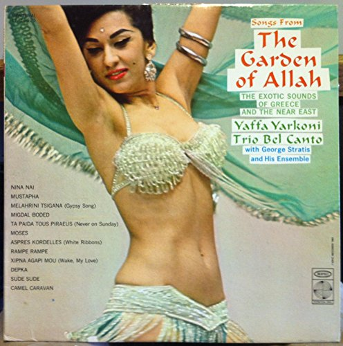Original album cover of YAFFA YARKONI & TRIO BEL CANTO THE GARDEN OF ALLAH vinyl record by Yaffa Yarkoni & Trio Bel Canto
