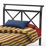 Amisco Harry Twin Size Headboard/Footboard only, Metallo Picture